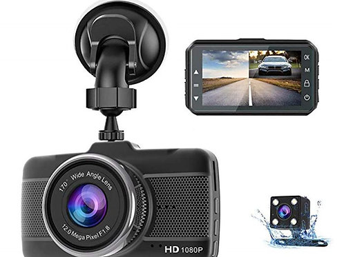 PGC Dual Dash Cam DVR - Front & Rear Recording