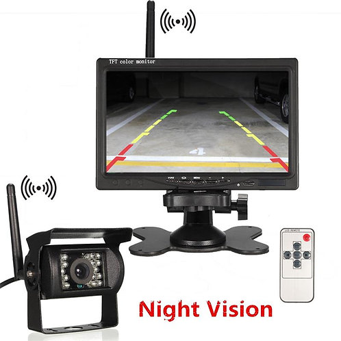 "PGC 7"" Heavy-Duty Wireless Backup Camera System"