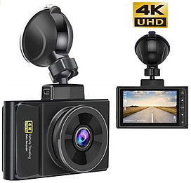 Dash Cam 4K Ultra HD 2160P with GPS Logging + Night Vision