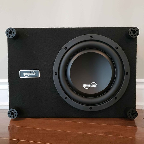 """10"""" Shallow 500W Subwoofer in Sealed Box"""