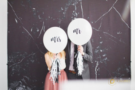 Custom Mr. and Mrs. Balloons