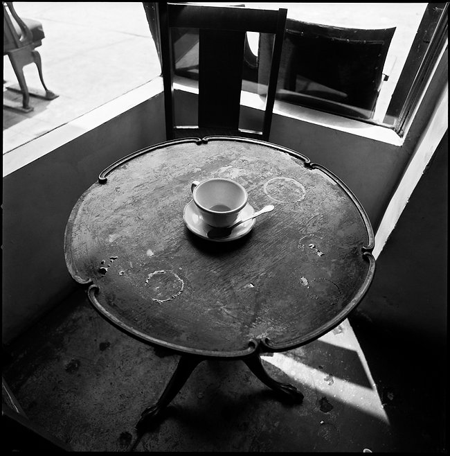 the very first coffee cup photograph at The Ministry in Los Angeles 1989
