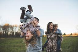Family Fun dans le champ