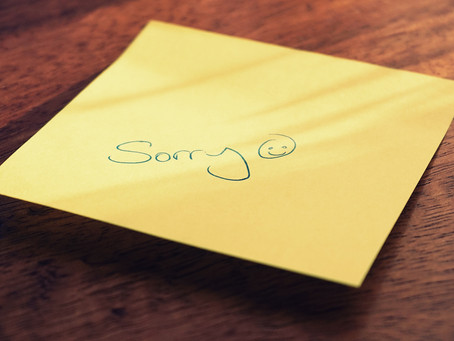 Guess What?! It's OK to Apologize, but Not Too Much!