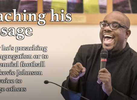 Lekevie Johnson preaches his message