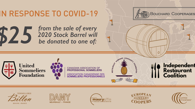 Wine Industry Advisor: Bouchard Cooperages Supports Restaurant Workers and Sommeliers with Stock Bar
