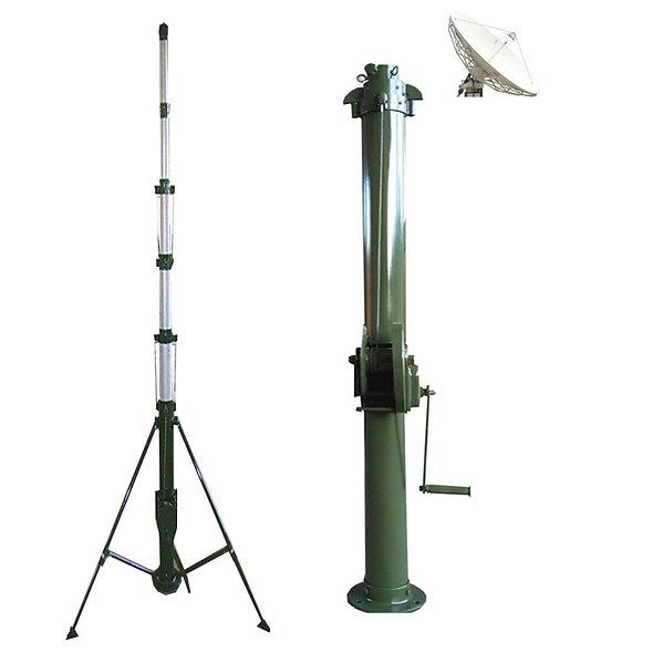 Mástil de elevación manual telescópico 10mts para iluminación
