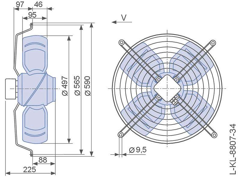 ZIEHL – ABEGG Ventilador Axial para Condensadora Stulz