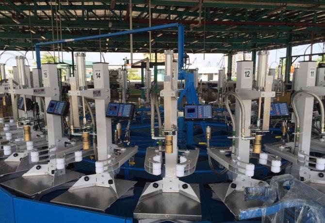Máquinas de Llenado Electrónicas con un Cabezal de Llenado Automático