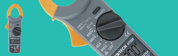 KEWTECH™ Pinza Voltiamperimetrica  Digital  400AC  600VAC/DC