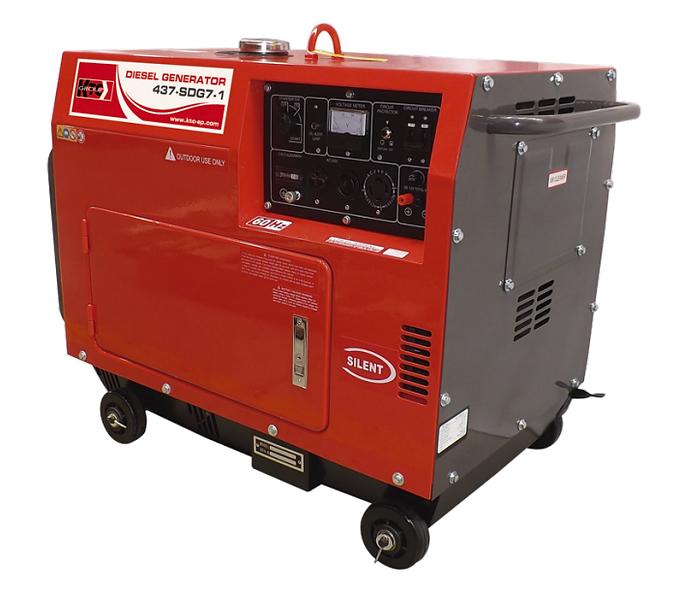 Grupo Generador Diesel 8 a 9 Kva 127/220 3F 3600Rpm KTC