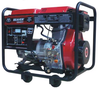 Generador Diesel 3,5 Kw 120/240 1F 3600 Rpm BEAVER