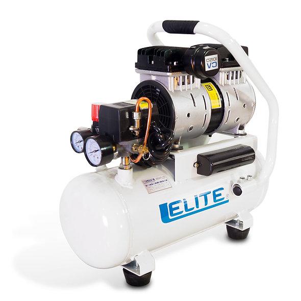 Compresor Libre de Aceite 1,0 hp 1 Piston 125 Psi 12 Litros 5,0 Cfm ELITE