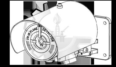 Soporte y parasol para Detector de Llama