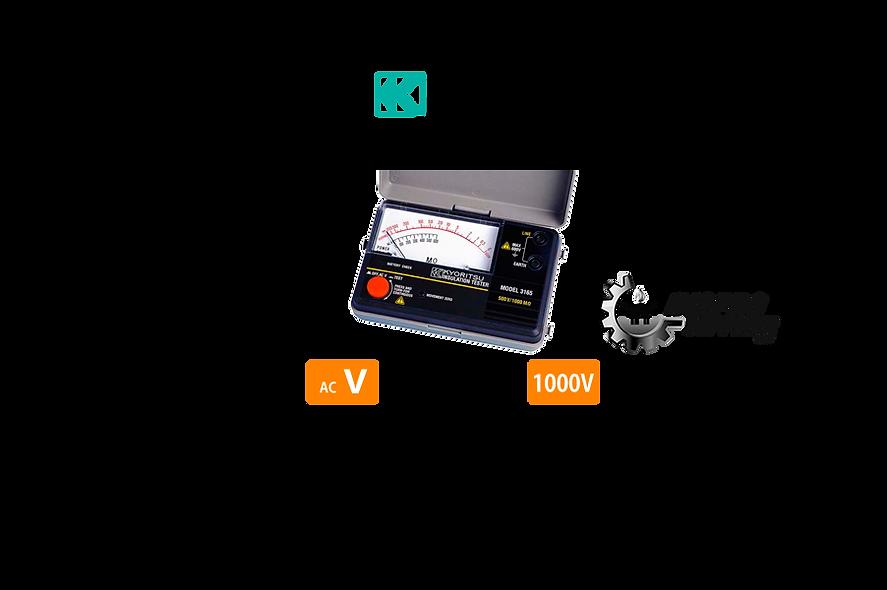 KYORITSU® Medidor de Aislamiento Análogo 1000V -  2000MῺ