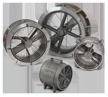 """COPPUS® REACTION FANS Ventilador Axial Neumático 12, 16, 20, 24"""""""