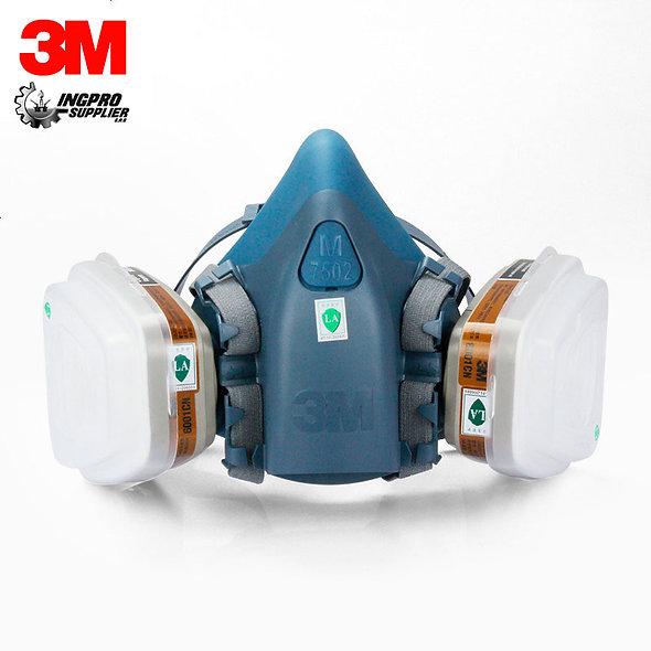 3M™ Respirador Media-Cara Con Doble Cartucho