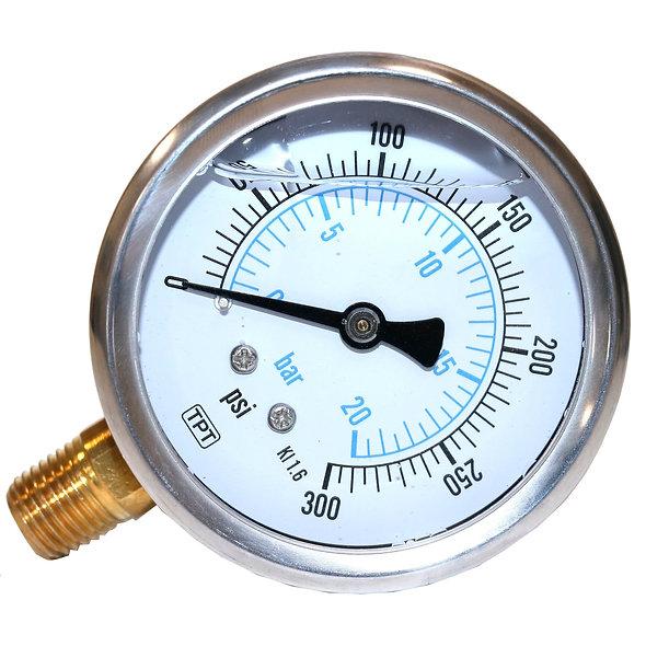 Manómetro de Presión Liquido 300 PSI