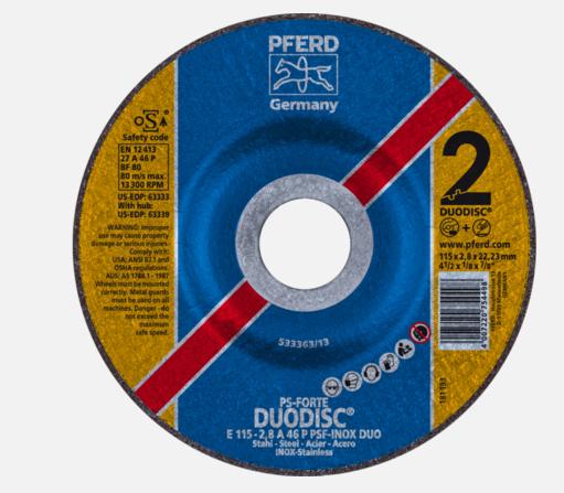 Discos de Desbaste Línea PS-FORTE Centro Deprimido