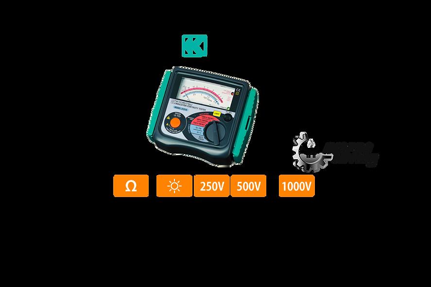 KYORITSU® Medidor de Aislamiento Análogo 250V/100MῺ,500V/200MῺ -1000/400MῺ