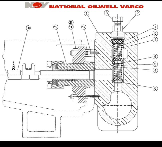 Repuestos Bombas Quintuplex NATIONAL - NOV 300Q-5H