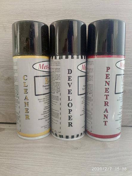 Kits De Ensayo De Tintas Penetrante Visible Extraíble Con Disolvente