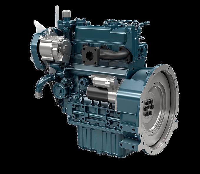 Motor Diesel 10,1 - 11,5 kW (13,5 - 15,4 hp) 1800 Rpm KUBOTA