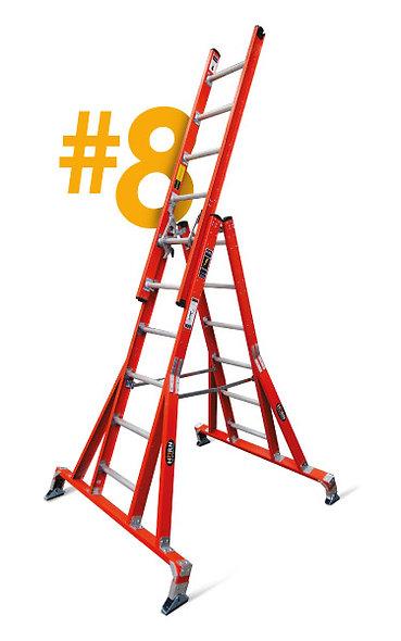 HORN® Escalera Caballete de Plástico Reforzado con Fibra De Vidrio