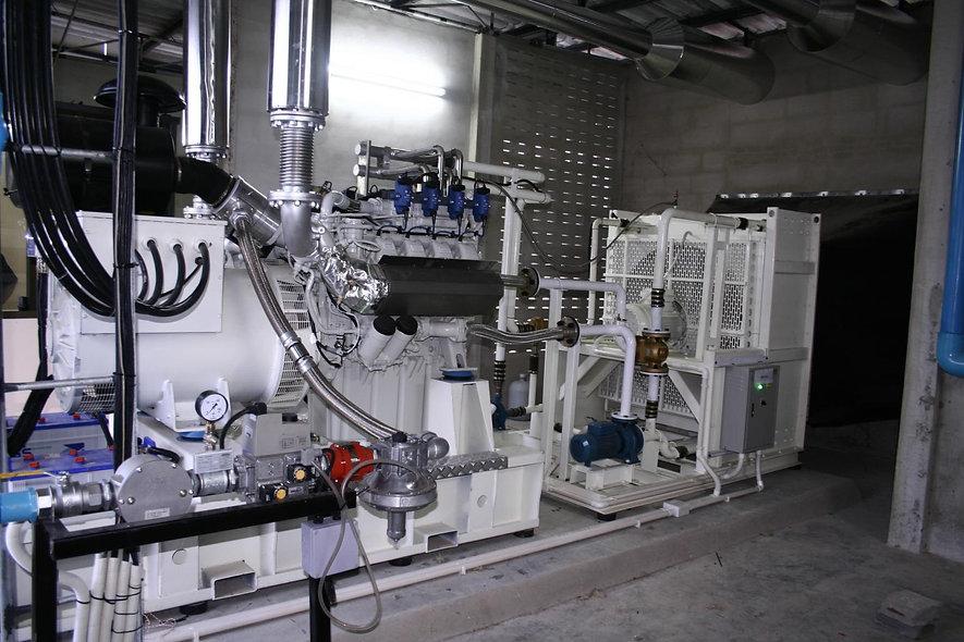 Grupo Generador a Gas 1100 KVA 480/277 Volt 3F 1800 Rpm