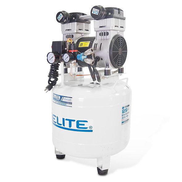 Compresor Libre de Aceite 2,5hp 2 Pistones 125 Psi 42 Litros 9,0 Cfm ELITE
