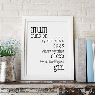 Personalised gifts for mums print on she