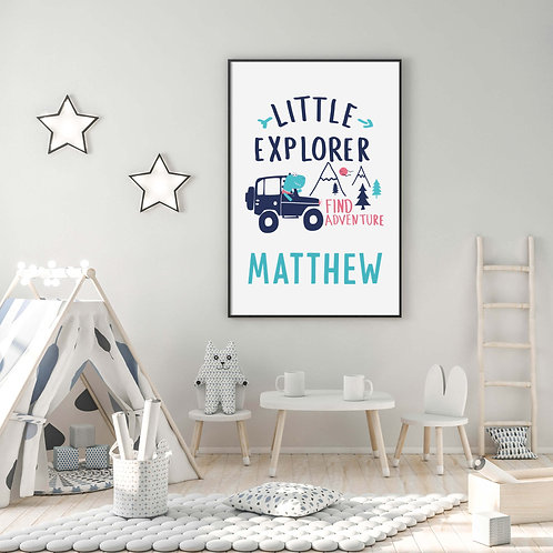 Kids Wall Prints | Belle & Eve | Boys Nursery Prints