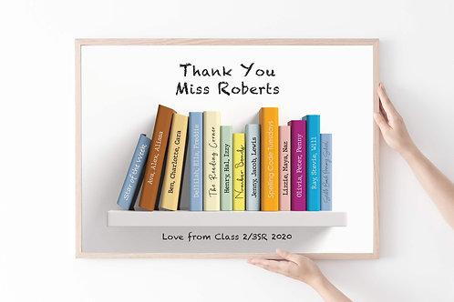 Teachers Personalised Print | Belle & Eve Gifts | Teachers Books
