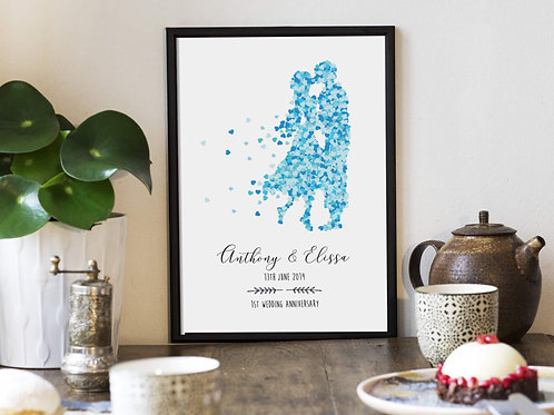 Personalised Anniversary Gift | Belle & Eve | Personalised Gifts
