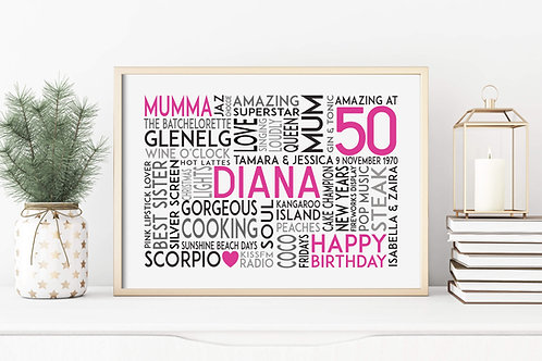 Personalised Gift for Her | Belle & Eve | Personalised Birthday Gifts in pink