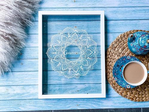 Personalised Gift Framed Mandala   Belle & Eve Gifts   Unique Gift