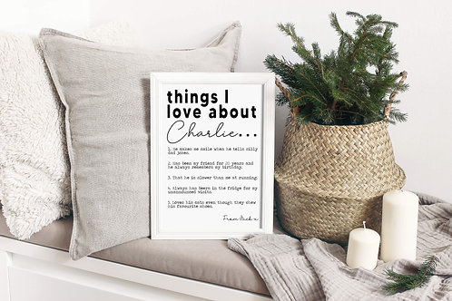 Things I Love About Personalised Print | Belle & Eve | Personalised Prints