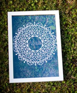 Personalised Papercut of Mandala Friends