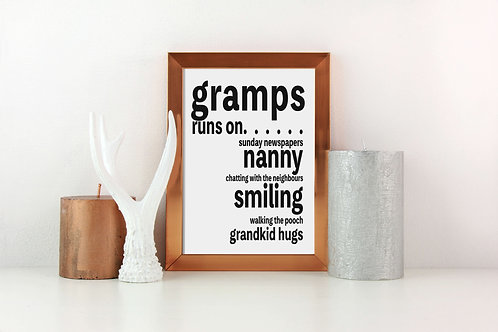 Personalised Grandad Gift | Belle & Eve | Personalised Gifts for Grandparents