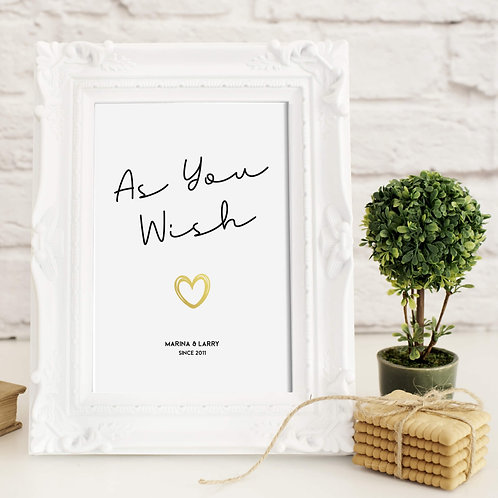 Personalised Quote Prints | Belle & Eve | Personalised Anniversary Gifts