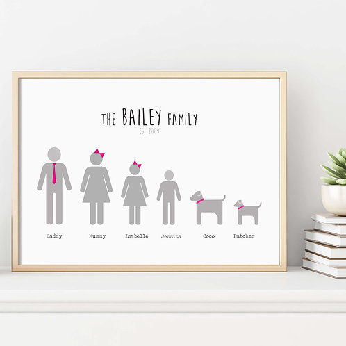 Personalised Family Prints | Belle & Eve | Unique Personalised Prints