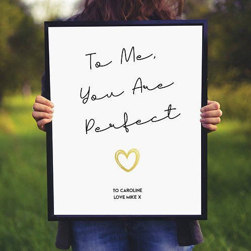 Love Actually Quote Personalised Print