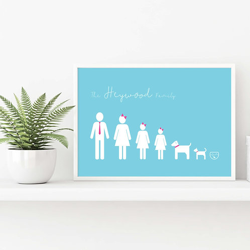 Icon Personalised Family Prints | Belle & Eve | Personalised Prints for Family