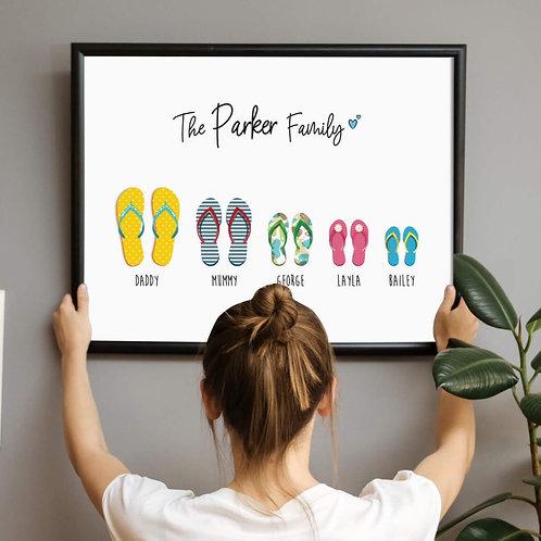 Thongs Personalised Family Print   Belle & Eve   Customised Prints