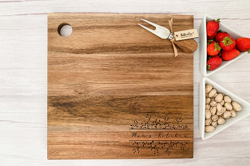 Personalised Cheese Board - Small Laurel