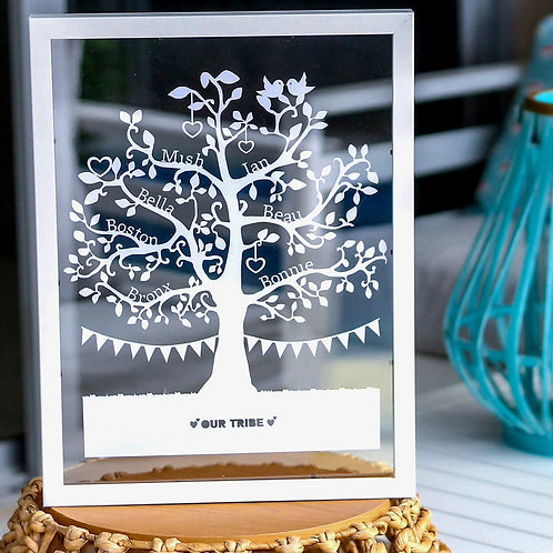 Personalised Family Tree Papercut | Belle & Eve | Personalised Family Gifts