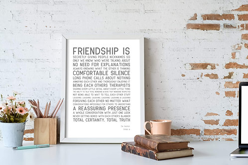 Friendship Is Personalised Print