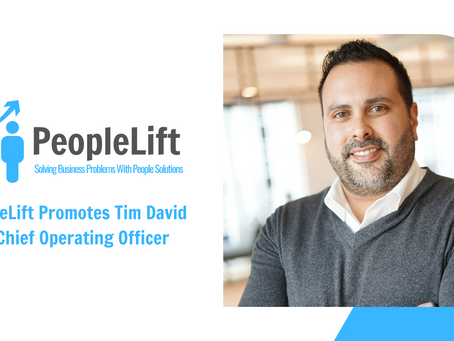 Tim David Promoted to Chief Operating Officer of PeopleLift