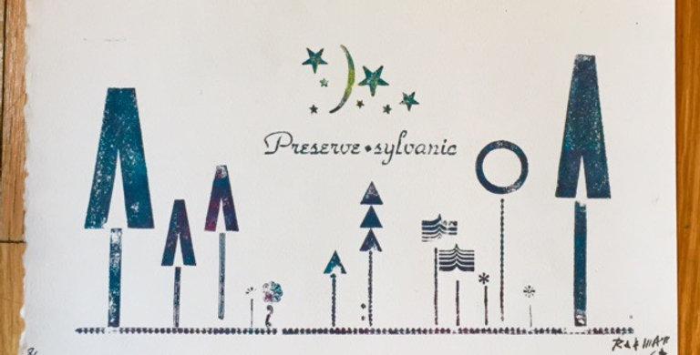 """Preserve"" Sylvania Letterpress print"