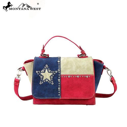 Montana West Texas Pride Collection Messenger/Shoulder Bag